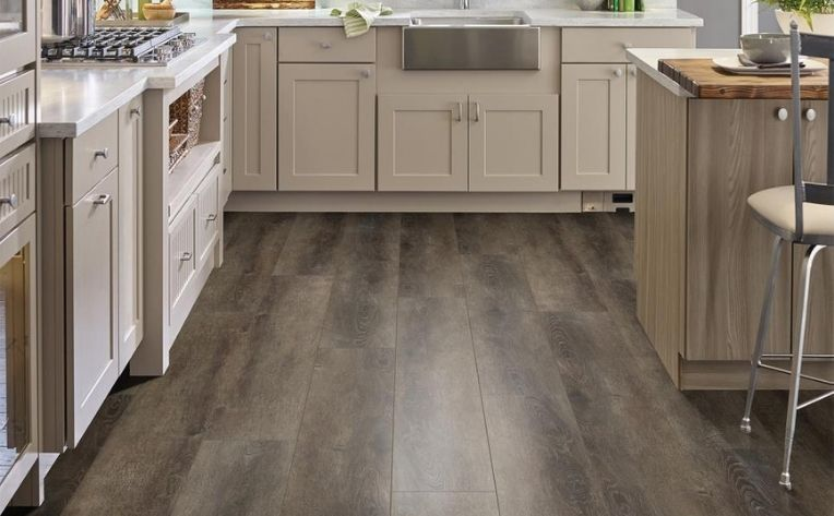 Large Flooring Planks Kitchen Example